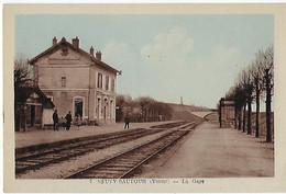 FRANCE - RARE - NEUVY SAUTOUR - La Gare - EN COULEUR - Neuvy Sautour
