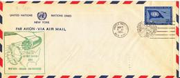 UN New York First Jet Air Mail Service Air Mail Cover New York - Chicago - San Fransisco 22-3-1959 - Luftpost