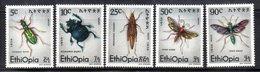 ETP209A - ETIOPIA 1977 ,  Yvert  N. 859/863 *** MNH INSETTI - Ethiopia