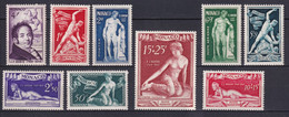 MONACO - 1948 SERIE SCULPTEUR BOSIO - YVERT N° 314/318 + AERIENS 28/31 * MLH - COTE = 72.2 EUROS - Unused Stamps