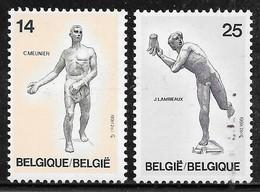 COB 2400/2401 ** - Sculptures Belges Du XIXe Siècle - Unused Stamps