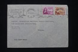 NORVÈGE - Enveloppe De Kristiansand Pour La France En 1948, Oblitération Mécanique Sur Noël - L 97665 - Covers & Documents