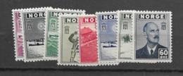1943 MNH Norway Mi 276-83 Postfris** - Unused Stamps