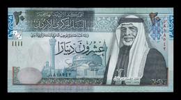 Jordania Jordan 20 Dinars King Hussein II 2002 Pick 37a SC UNC - Jordan
