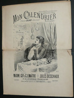 """Chanson Partition Paroles, """"Mon Calendrier"""", Romance De Galand, Guy Lemaitre Deschaux, Illustrée Par Chercy - Scores & Partitions"""