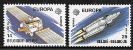 COB 2406/2407 ** - Europa 1991 - Télécommunications - Unused Stamps