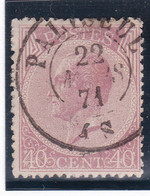 Belgique - COB 20 Obl. Paliseul - 1865-1866 Perfil Izquierdo
