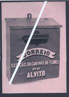 Mailbox At Alvito Railway Station. Caixa Correio Estação Caminho De Ferro Alvito. Museu Dos Correios. Telefone Bell. - Covers & Documents