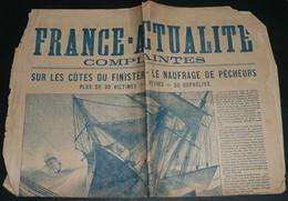 """Rare Partitions Chansons Paroles, """"France-Actualité, Complaintes"""" Dixmude Penmarch, Illustré Par Dascher, Naufrage - Scores & Partitions"""