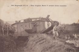 (Doubs )  CPA  Besançon  506 Eme  Regiment D' A.S.  Char Anglais  Mark V  Sortant D' Une Tranchée     (Bon état) - Besancon