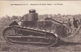 (Doubs )  CPA  Besançon  506 Eme  Régiment D' A.S.  Manœuvre De Chars Légers  La Critique    (Bon état) - Besancon