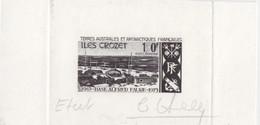Fragment D'Epreuve D'Etat Signée Claude Haley Du PA 36 (Base Alfred Faure) 150F, Format 125 X 65 - Brieven En Documenten