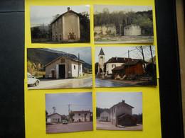 Photo ,TRAMWAY Et Gares De L'AIN , Collection Bourneuf ,lire Descriptif , Villebois ,Saint-Benoit.... - Treinen