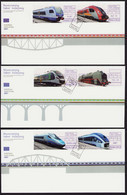 Poland 2021 Modern Rolling Stock, Train, Trains 3 X FDC New!!! - FDC