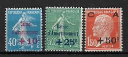 FRANCE Caisse D'Amortissement: Les Y&T 246-248 Neufs** - Unused Stamps