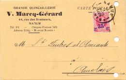 PK - CP - Briefkaart - V. Marcq - Gérard Stempel Cachet Namur à Auvelais - 1929 - Postkaarten [1909-34]