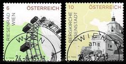 Österreich 2015,Michel#3183 - 3184 O Impressionen In Österreich - 2011-... Used