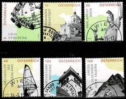 Österreich 2015,Michel# 3183 - 3186, 3189, 3190 O Impressionen In Österreich - 2011-... Used