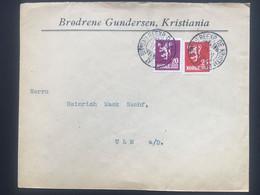 NORWAY 1924 Cover Kristiania To Ulm Germany - `Brodrene Gundersen` - Covers & Documents