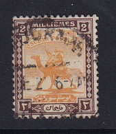 Sdn: 1921/23   Arab Postman   SG31a    2m  Yellow & Chocolate Used - Sudan (...-1951)