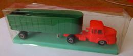 Semi-remorque Micro Miniature NOREV N° 3 Au 1/86è, Tracteur UNIC, Remorque TITAN, Dans Son étui D'origine - Jouets Anciens