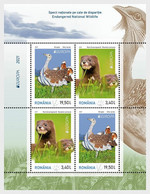 Roemenië / Romania - Postfris / MNH - Sheet Europa, Bedreigde Dieren 2021 - Unused Stamps