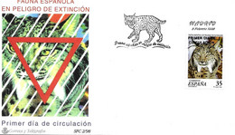 Lynx Pardelle FDC 1998 Espagne Yvert 3103 - Raubkatzen