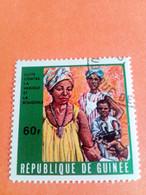 GUINEE - GUINEA - République De Guinée - Timbre 1970 : Santé, Médecine : Lutte Contre La Variole Et La Rougeole - Guinea (1958-...)