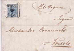 Austria-Hungary - Y&T 5 On Cover From Sebenico (Sibenik) Dalmatia (Croatia) To Triest 1859 - Hinged - Covers & Documents