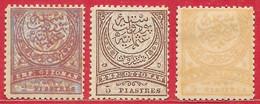 Turquie N°75 2P, N°77 5P, N°78 5P 1888-90 * - Gebruikt