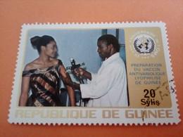 GUINEE - GUINEA - République De Guinée - Timbre 1973 : Santé, Médecine OMS : Vaccin Antivariolique Lyophilisé - Guinea (1958-...)