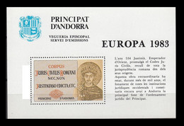 ANDORRA VEGUERIA EPISCOPAL - EUROPA 1983 - EDICTO DE JUSTINIANO - Viguerie Episcopale