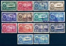 Girostamps.-Venezuela.-1938 Airmail - La Guaira, National Pantheon And Oil WellslCorreo Aéreo Bonito Lote De Conjunto - Venezuela