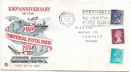 Great Britain , UK , 100 Anniversary Of Universal Postal Union  Cover ,  Aldershot Hants  Postmark - Other