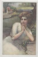 C. Monestier: Woman Portrait Old Postcard Posted 1925 To Požega B210501 - Monestier, C.