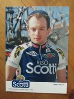 Cyclisme - Carte Publicitaire RISO SCOTTI 1998 : Nicola MINALI - Ciclismo