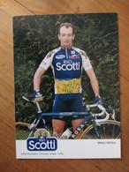 Cyclisme - Carte Publicitaire RISO SCOTTI 1998 : Nicola MINALI 2 - Ciclismo