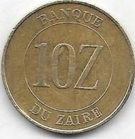 10 Zaires 1988 - Zaire (1971-97)