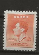 Nauru, 1937, SG  45, Mint Hinged - Nauru