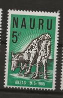 Nauru, 1965, SG  65, Mint Hinged - Nauru