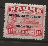 Nauru, 1935, SG  40, Mint Hinged - Nauru