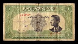Jordania Jordan 1 Dinar King Hussein II L.1949 (1952) Pick 6a BC F - Jordan