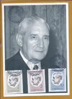Raro Postal Com Série De Stamps De Salazar 1971. Estado Novo 1933 - 1974. Ditadura. Censura. Censorship. Dictatorship. - Historical Documents