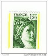 Sabine 1fr20 Vert De Roulette YT 2103d Avec Deux Bandes Phospho ( Demies Bandes ) . Superbe, Voir Scan . Cote YT : 6 € . - Varietà: 1980-89 Nuovi