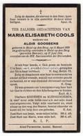 Maria Elisabeth Cools X Alois Goossens, Heist-op-den-Berg, Parochie Beerzel - Images Religieuses