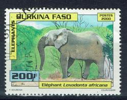 Burkina Faso, 200f, Eléphant, 2000, Obl, TB - Burkina Faso (1984-...)