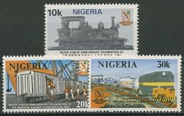 Nigeria 1980 Eisenbahn Dampflok Güterzug 374/76 Postfrisch - Nigeria (1961-...)