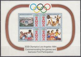 SAMOA  Block 32, Postfrisch **, Olympische Sommerspiele, Los Angeles, 1984 - Samoa
