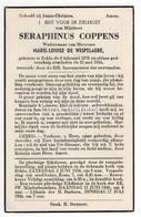 Seraphinus Coppens X Marie-Louise De Wispelaere, Eeklo - Images Religieuses