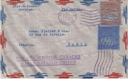 """VENEZUELA : PA .  """" CARACAS """" . POUR LA FRANCE . 1937 . - Venezuela"""